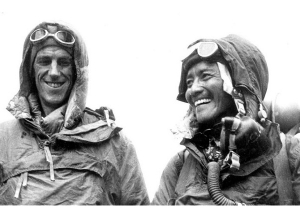From Left: Edmund Hillary and Tenzing Norgay