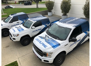 New Demo Trucks Unveiled by Alpine Electronics