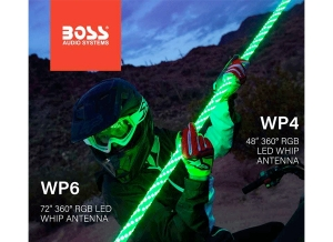 BOSS Audio Systems Adds New 360 Degree LED Whips to Powersports Line