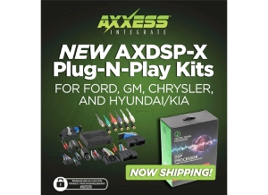 Axxess® is Now Shipping New Plug-N-Play DSP Solutions for Chrysler, Ford, GM, Hyundai/Kia, and Harley-Davidson®