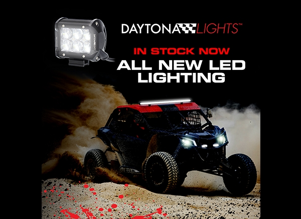 Daytona Lights™ Ships New Cube, Driving and Rock LED Lights, Plus RGB Strip Lighting Kits