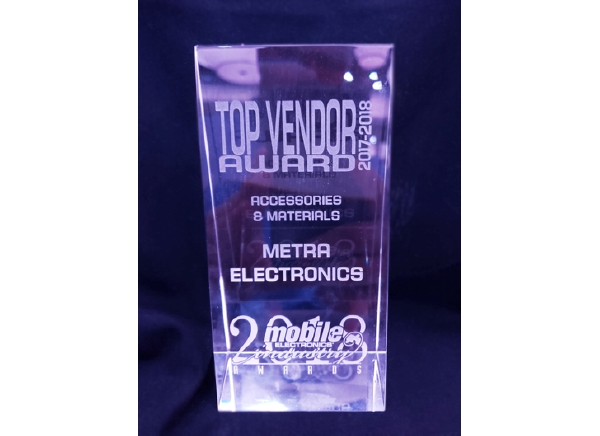 Metra Electronics® Awarded 2018 TOP Vendor Award - Accessories and Materials
