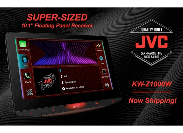JVC Ships SUPER-SIZED 10.1-Inch Multimedia Receiver, Boasting Many Firsts!