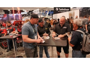 Custom Cars and Celebrities at the 2019 SEMA Show KICKER® Booth